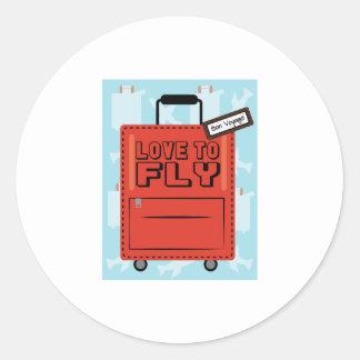 Love to Fly Round Sticker