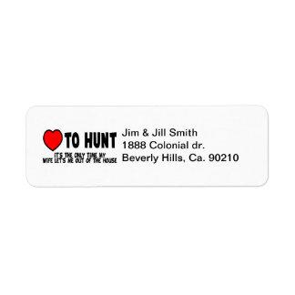 Love To Hunt Return Address Label