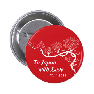 Love to Japan Cherry Blossom Button