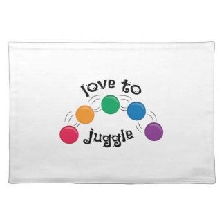 Love To Juggle Cloth Place Mat