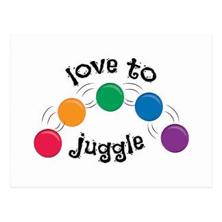 Love To Juggle Postcard