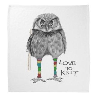 Love to knit bandana