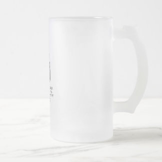 Love to knit frosted glass beer mug