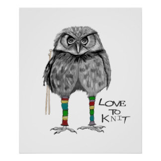 Love to knit poster