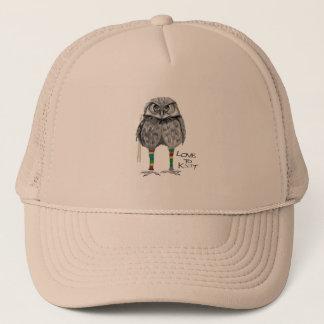 Love to knit trucker hat
