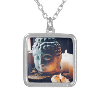 love to relax silver plated necklace