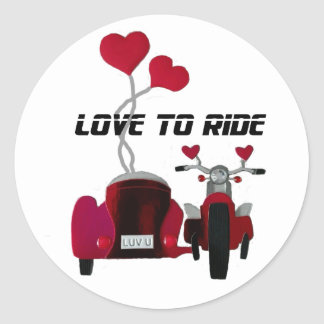 Love to Ride Sidecar Motorcycles Stickers