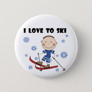 Love to Ski - Boy Tshirts and Gifts 2 Inch Round Button
