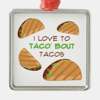 Love To Taco Metal Ornament