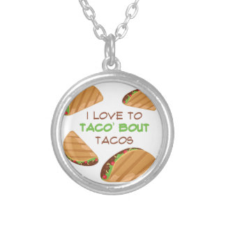 Love To Taco Silver Plated Necklace