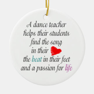 Love to Teach Dance Doubled-Sided Ornament