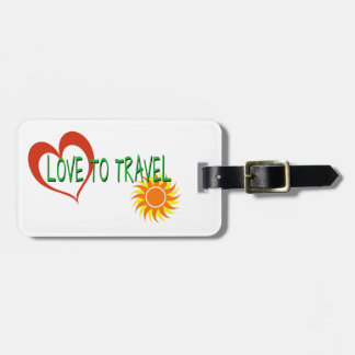 Love to Travel Luggage Tag