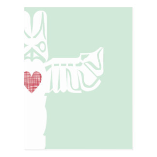 Love Totem Pole Postcard