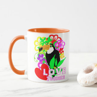 Love Toucans Cute Tropical Animal Colorful Trendy Mug