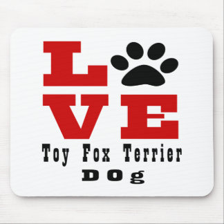 Love Toy Fox Terrier Dog Designes Mouse Pad