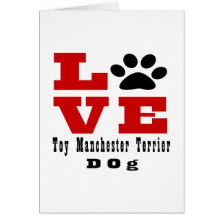Love Toy Manchester Terrier Dog Designes Card