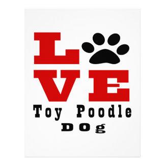 Love Toy Poodle Dog Designes Personalized Letterhead