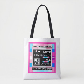 Love Transcends All Genders Tote Bag