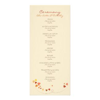 Love Tree Hearts Wedding Program
