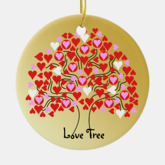 Love Tree Ornament Silver Gold