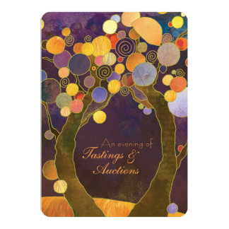 """Love Trees Charity Fundraising Auction Dinner 5"""" X 7"""" Invitation Card"""