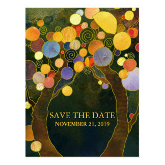 Love Trees Rustic Wedding Save the Date Postcard