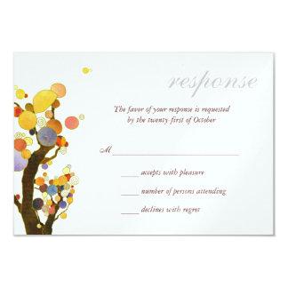 "Love Trees White Ice Metallic Wedding RSVP (3.5x5) 3.5"" X 5"" Invitation Card"