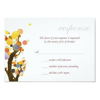 "Love Trees White Wedding RSVP 3.5"" X 5"" Invitation Card"