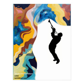 Love Trombone Postcard