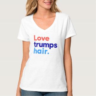 """""""LOVE TRUMPS HAIR"""" T-Shirt"""