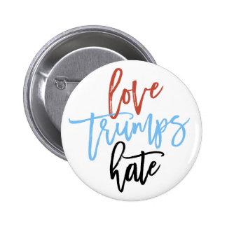 Love Trumps Hate 2 Inch Round Button