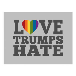 Love Trumps Hate - Anti Donald Trump Postcard