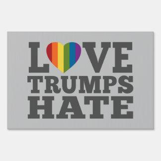 Love Trumps Hate - Anti Donald Trump Sign