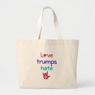 Love Trumps Hate Anti Trump Large Tote Bag