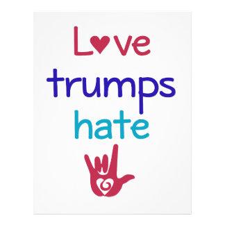 Love Trumps Hate Anti Trump Letterhead