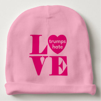 Love Trumps Hate Baby Beanie