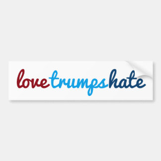 love trumps hate bumper sticker