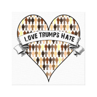 Love Trumps Hate Canvas Print