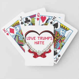 love trumps hate donald gift t shirt bicycle playing cards
