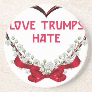 love trumps hate donald gift t shirt coaster