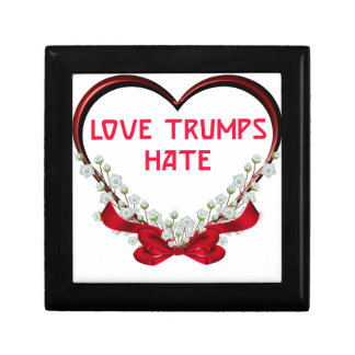 love trumps hate donald gift t shirt gift box