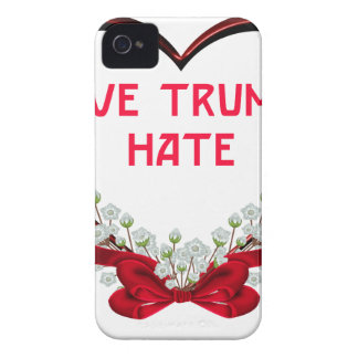 love trumps hate donald gift t shirt iPhone 4 Case-Mate case