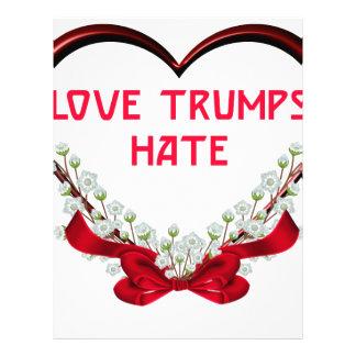 love trumps hate donald gift t shirt letterhead