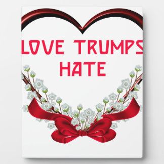 love trumps hate donald gift t shirt plaque