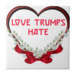 love trumps hate donald gift t shirt tile