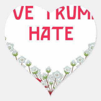love trumps hate heart sticker
