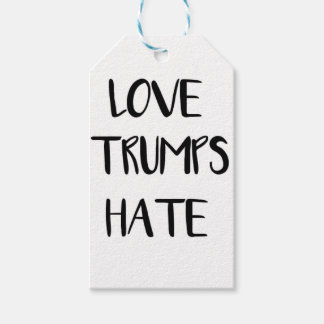 Love Trumps Hate Inspiring Nation Gift Tags