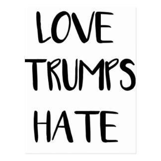 Love Trumps Hate Inspiring Nation Postcard