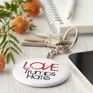 Love Trumps Hate Key Chain
