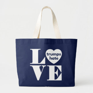 Love Trumps Hate Large Tote Bag